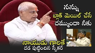 AP Assembly Speaker Tammineni Mind Blowing Comments on TDP Leaders | Political Qube