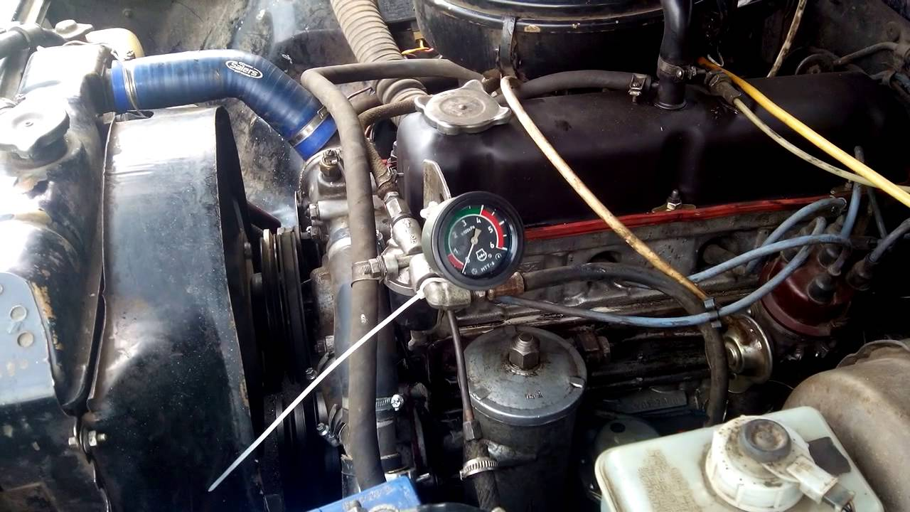 Волга ГАЗ 31029 ЗМЗ 402. Давление масла, механический манометр