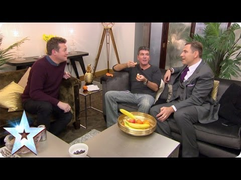 David Walliams and Simon Cowell argue about their dogs' talents  Britain's Got More Talent 2014