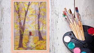 Как нарисовать осень гуашью! #Dari_Art