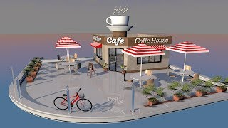 Cinema 4D Modeling Tutorial - How to Model a Cafe Part 01