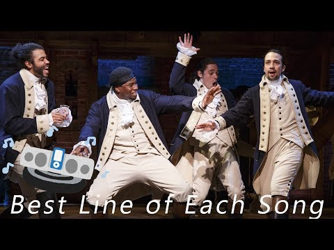 Hamilton Condensed - Best Lines from Each Song