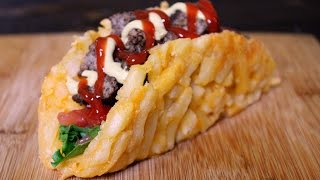 The Vulgar Chef - French Fry Burger Taco