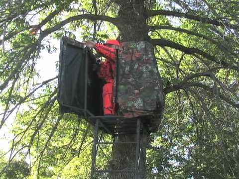 Rivers Edge Opening Day Ladder Stand Youtube