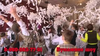 """Бумажное шоу в Омске """"Снежный Бум"""" 38-56-58"""