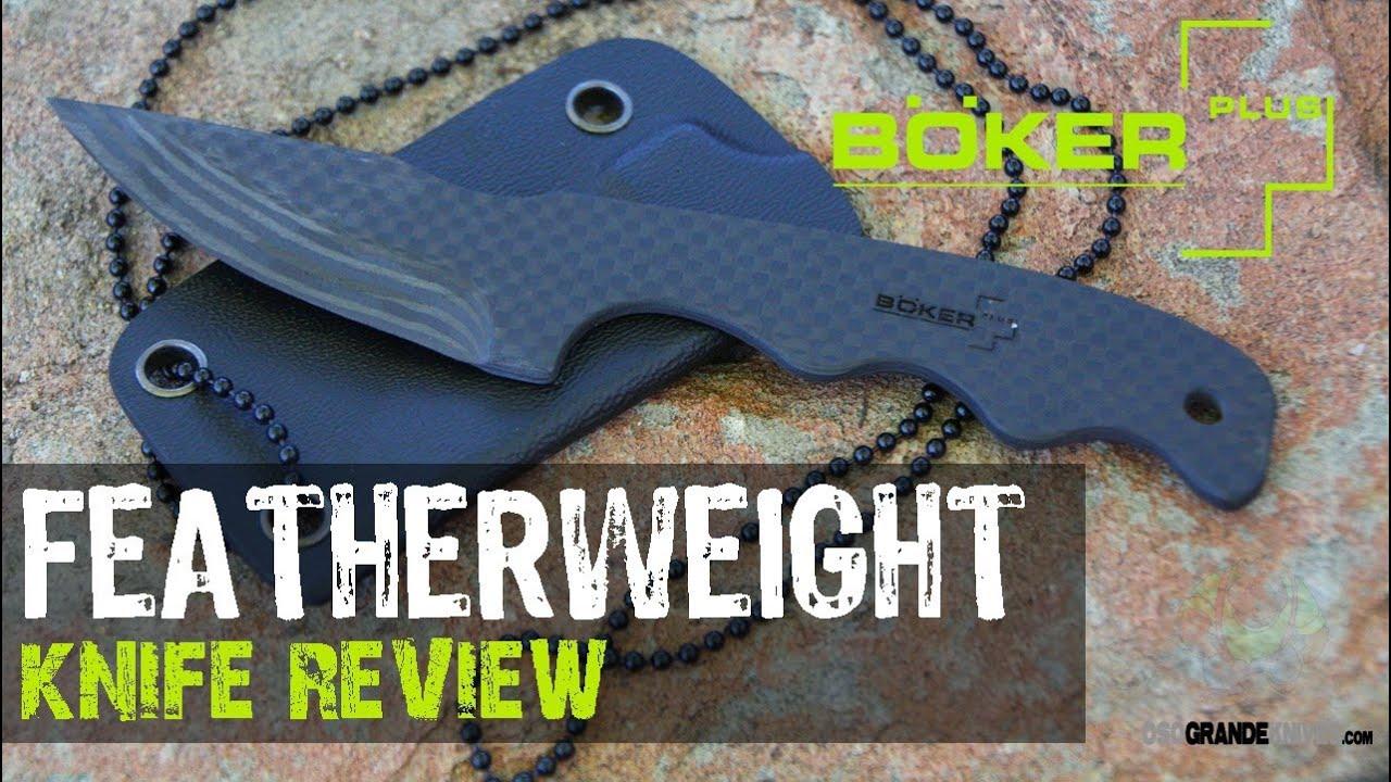 Boker Plus Featherweight Neck Knife Review | OsoGrandeKnives - YouTube