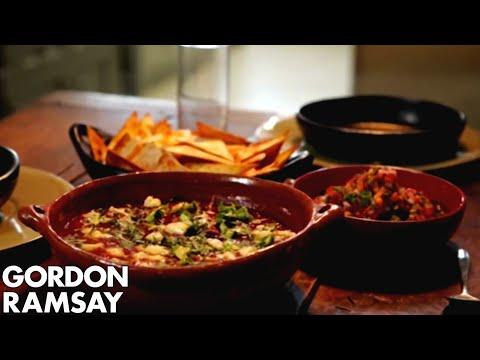 Spicy Mexican Soup with Tortillas & Salsa – Gordon Ramsay
