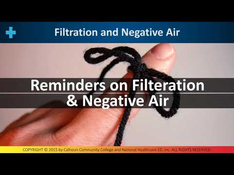 Reminders on Filtration & Negative Air - M3 3