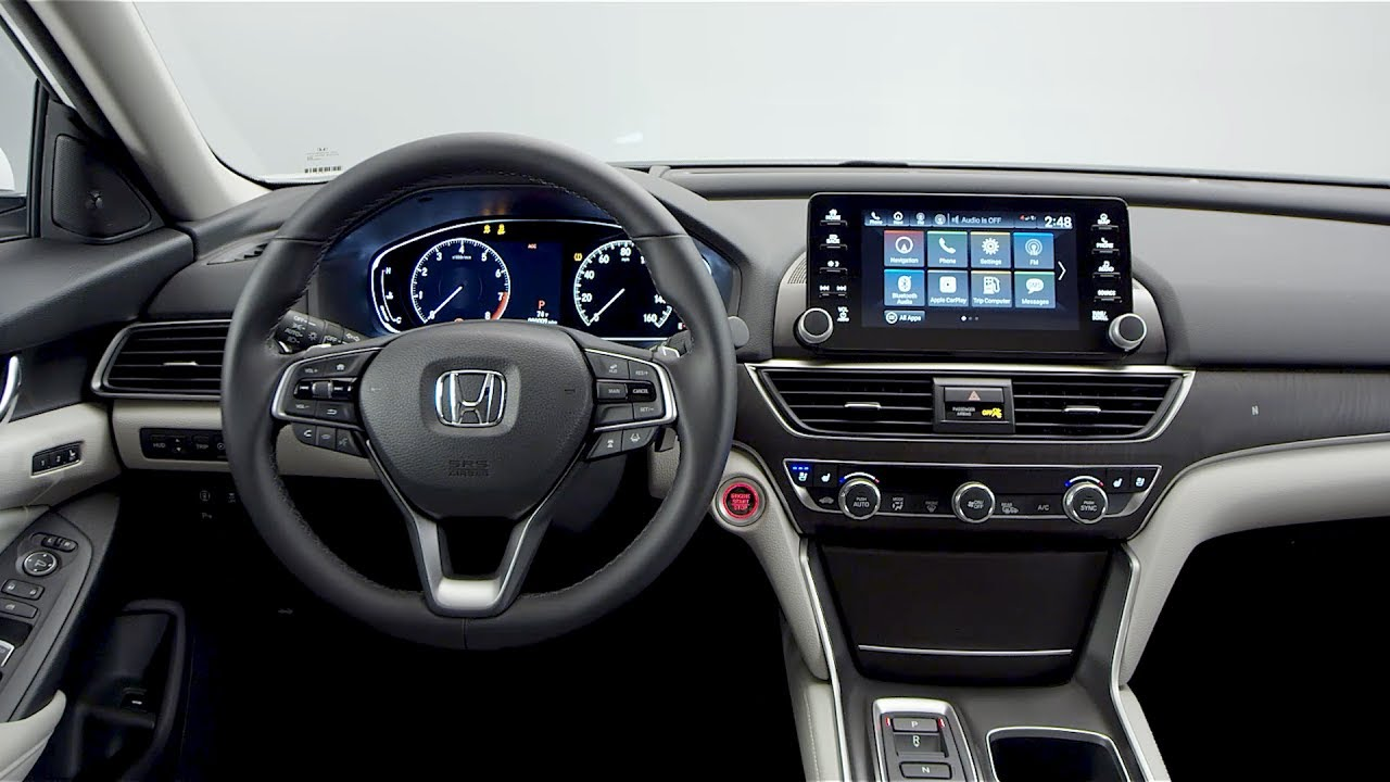 Honda Accord 2018 Spec >> 2018 Honda Accord - Interior (US Spec) - YouTube