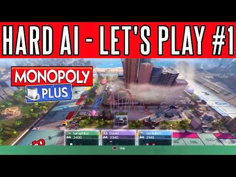 Monopoly Plus Let's Play #1| Playthrough | Walkthrough | Funny Commentary | Hard AI | Console