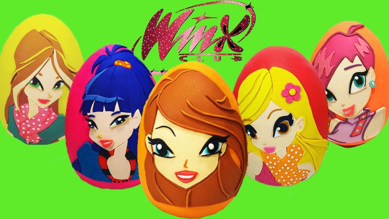Download Tüm Winx Perileri Dev Sürpriz Yumurtaları Bir Arada (Oyun Hamuru) - Winx Oyuncakları LPS