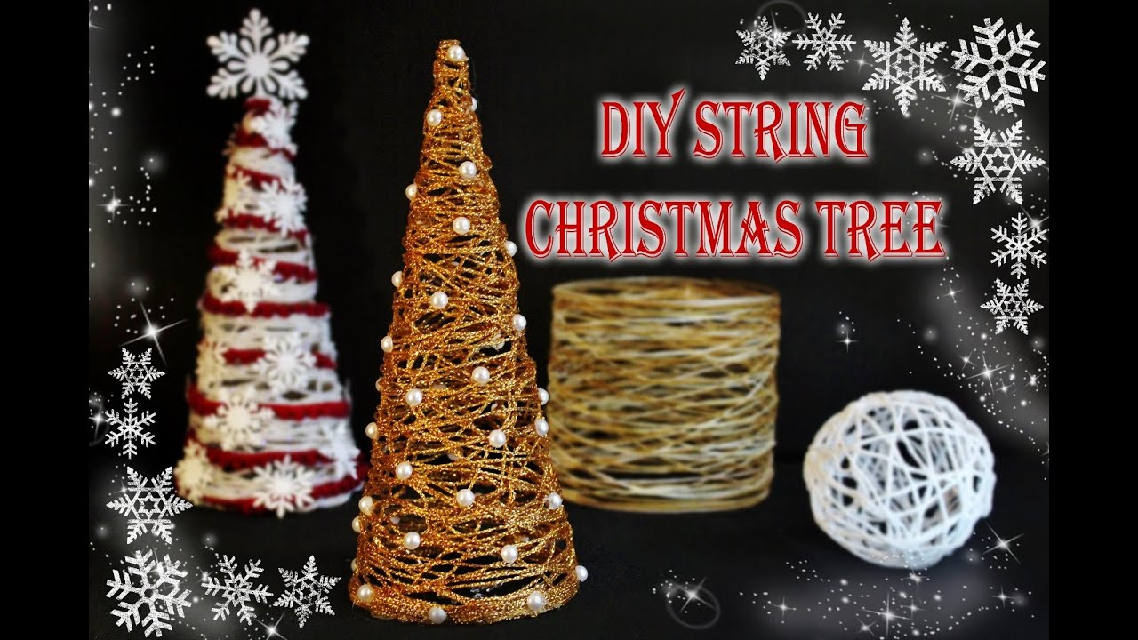 Diy string christmas tree youtube solutioingenieria Images