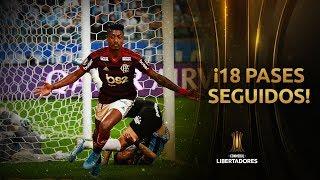 Los 18 pases del Flamengo para el golazo de Bruno Henrique