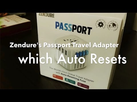 Passport: World's First Global Travel Adapter with Auto Resetting Fuse Technology