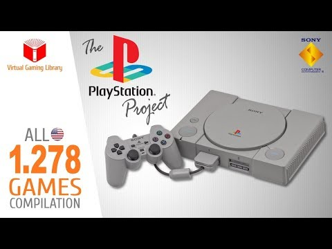 The PlayStation Project - All 1278 NTSC-U (USA) PS1/PSX/PSOne Games - Every Game (USA/NTSC-U)