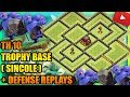 Clash Of Clans Town Hall 10 TH10 Trophy Base 2017 Defense Replays NEW BATTLE RAM UPDATE ANTI 2