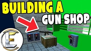 Building A Gun Shop - GMOD DarkRP (Small And Compact On A New Map)