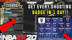 *NEW* FASTEST WAY TO UNLOCK EVERY SHOOTING BADGE IN NBA 2K20 GET EVERY BADGE INSTANTLY AFTER PATCH 8