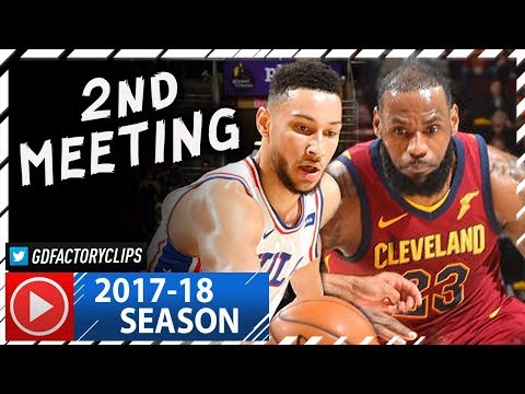 LeBron James vs Rookie Ben Simmons EPIC Duel Highlights (2017.12.09) Cavs vs 76ers - TD for LBJ!