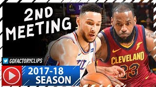 LeBron James vs Rookie Ben Simmons EPIC Duel Highlights (2017.12.09) Cavs vs 76ers - TD for LBJ!