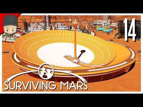 Surviving Mars - Ep.14 : Space Elevator, Omega Telescope & Molehole Mine!