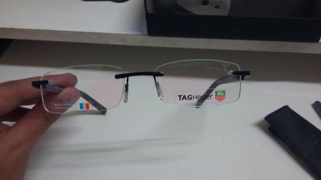 Unboxing - Armação de Óculos de Grau Tag Heuer TH8108 cc  AliExpress ... e50bf52dab