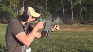 lou and i shooting full auto belt fed and suppressed guns