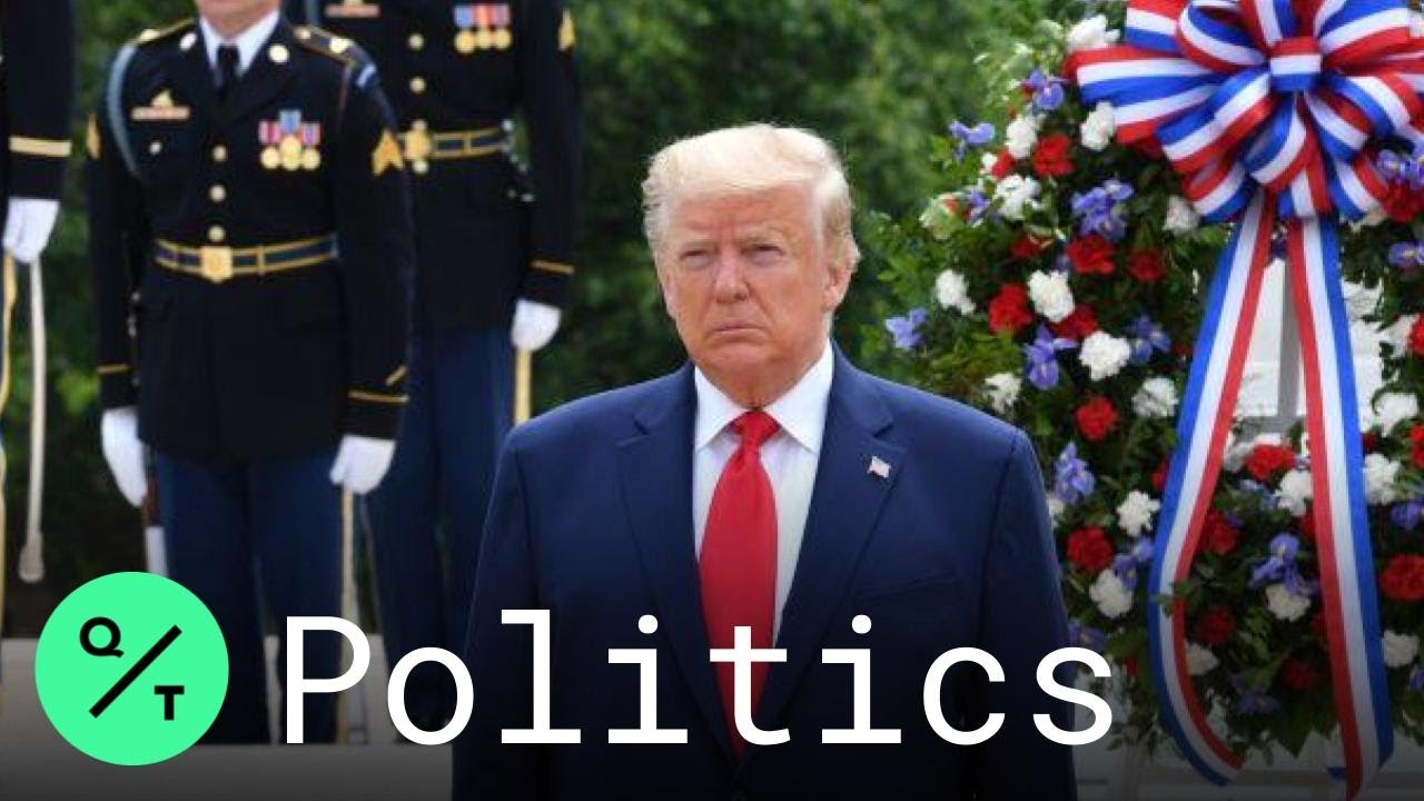 Trump commemorates Memorial Day at Arlington National Cemetery ...
