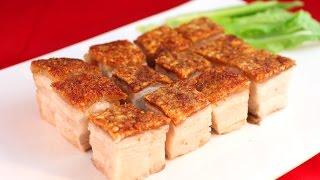 Roasted Pork Belly Recipe /家庭製做脆皮燒肉