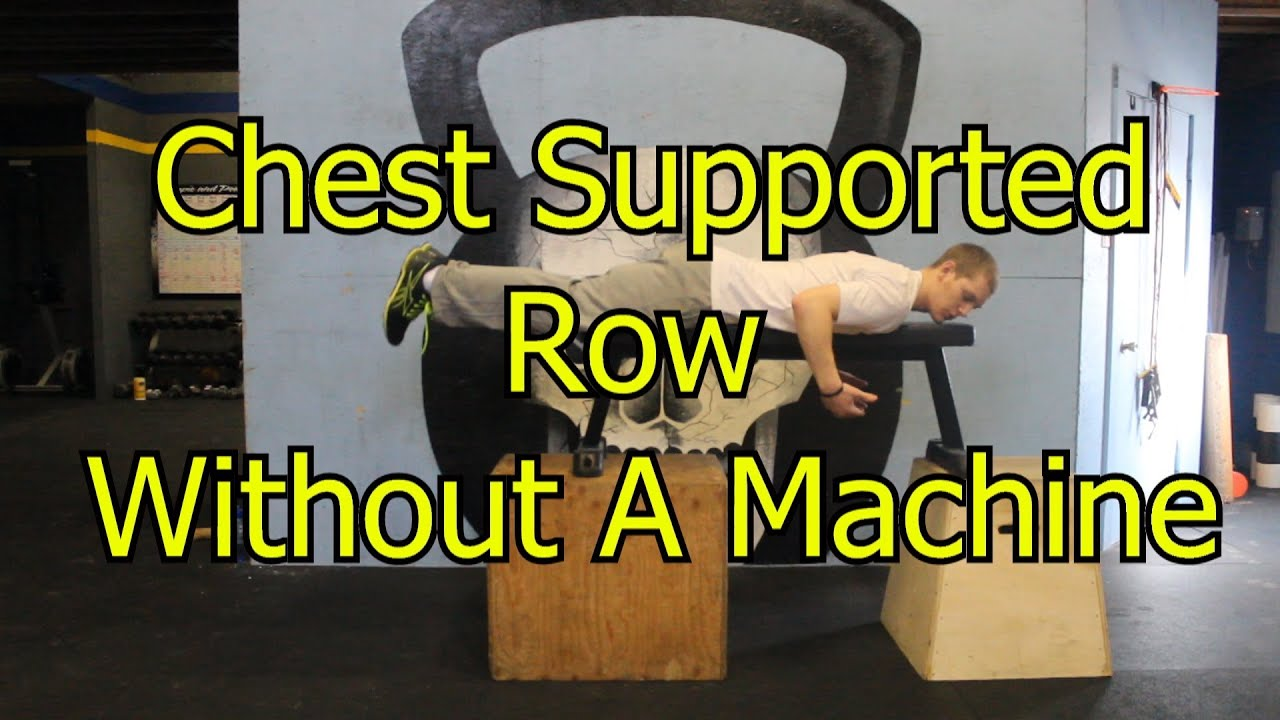 row exercise without machine