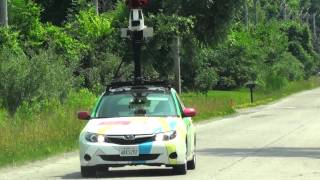 Google Street View car guy snapping my picture