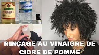 RINÇAGE AU VINAIGRE DE CIDRE DE POMME sur cheveux afro naturels
