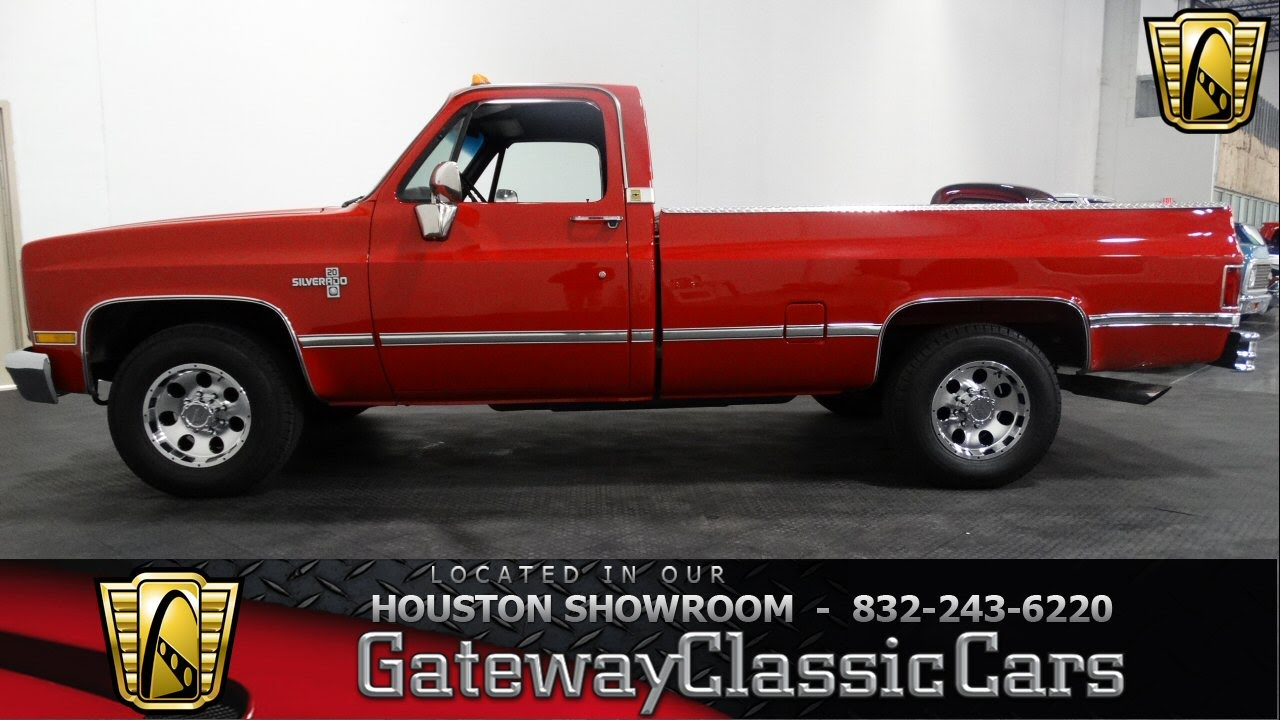 hight resolution of 1987 chevrolet silverado r20 gateway classic cars of houston stock 373 hou