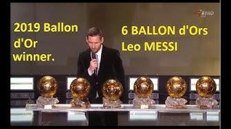 Ballon d'Or 2019 - LIVE STREAMING (HD 2019)- Messi wins Ballon d'Or 2019