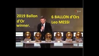Ballon d'Or 2019 - LIVE STREAMING (HD 2019)- Messi wins Ballon d'Or 2019