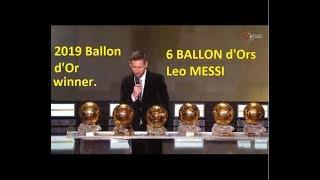 Ballon D'or 2019   Live Streaming (hd 2019)  Messi Wins Ballon D'or 2019