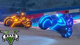 GTA V Online: PRIMEIRA CORRIDA com a MOTO TRON!!! #180