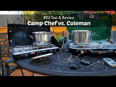 Camp Stove BTU Test | Camp Chef Vs Coleman | Camping Gear Equipment Review