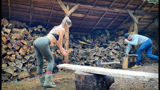 BUILDING a NEW YURT in the MOUNTAINS | Winter Firewood is LOW | Chainsaw Milling Lumber - Ep. 116