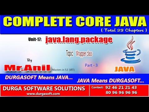 Core Java -java.lang.package- Wrapper class - Part - 3