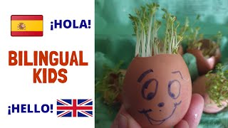Jardinería para niños bilingüe | Bilingual gardening for children | Learn Spanish for children