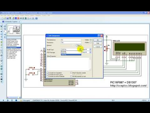 Real Time Clock Using PIC16F887 And DS1307 RTC - CCS C (Proteus Simulation)
