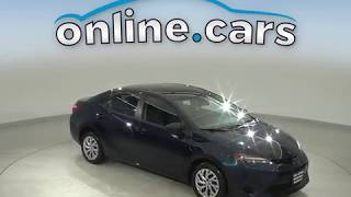 C14290TR Used 2018 Toyota Corolla L FWD 4D Sedan Blue Test Drive, Review, For Sale