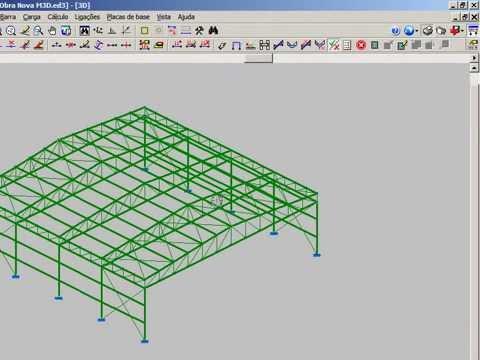 Metálicas 3D - Apresentação do software para projetos de estruturas metálicas