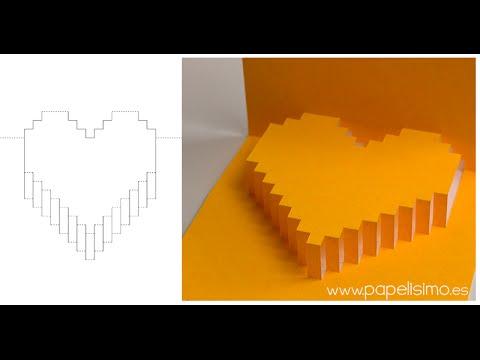 Tarjeta De Corazon 3d Pop Up Regalos Con Manualidades De San