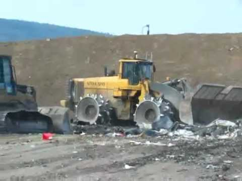Construction Equipment at Clinton County Landfill - YouTube