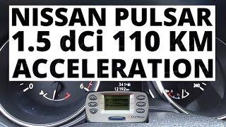 Nissan Pulsar 1.5 dCi 110 hp (MT) - acceleration 0-100 km/h