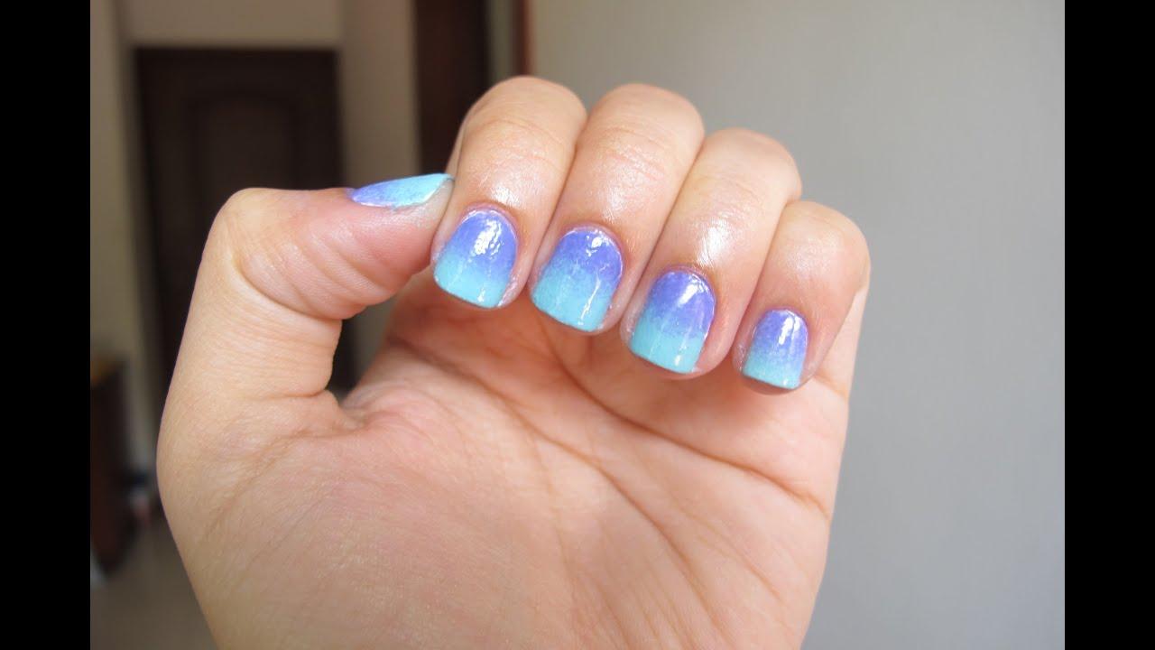 Diseño de Uñas Ombré // 2 Color Ombré Nails - YouTube