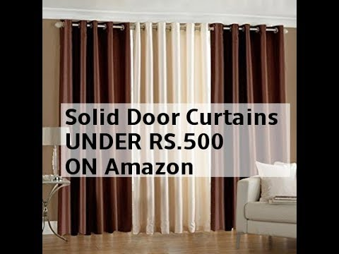 Solid Door Curtains UNDER RS.500 ON Amazon ( किफायती दाम में