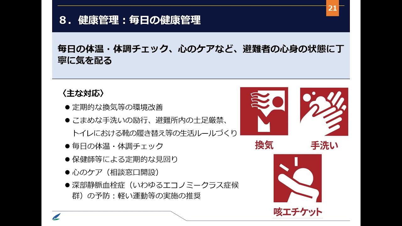 (3/3)新型コロナウイルス感染症対策に配慮した避難所運営のポイント(第2版)